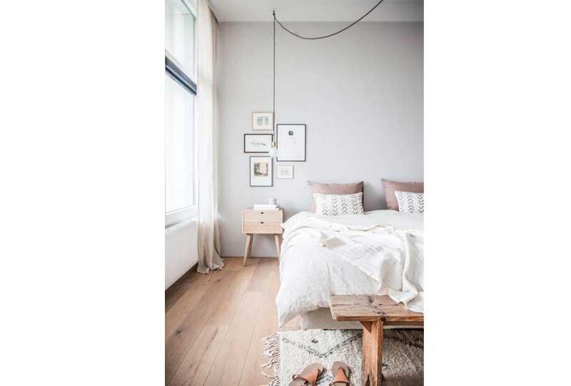 ألوان غرف نوم باللون الأبيض