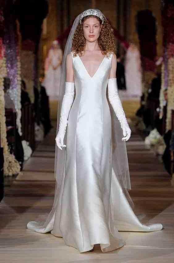 فساتين زفاف 2020 مع قفازات