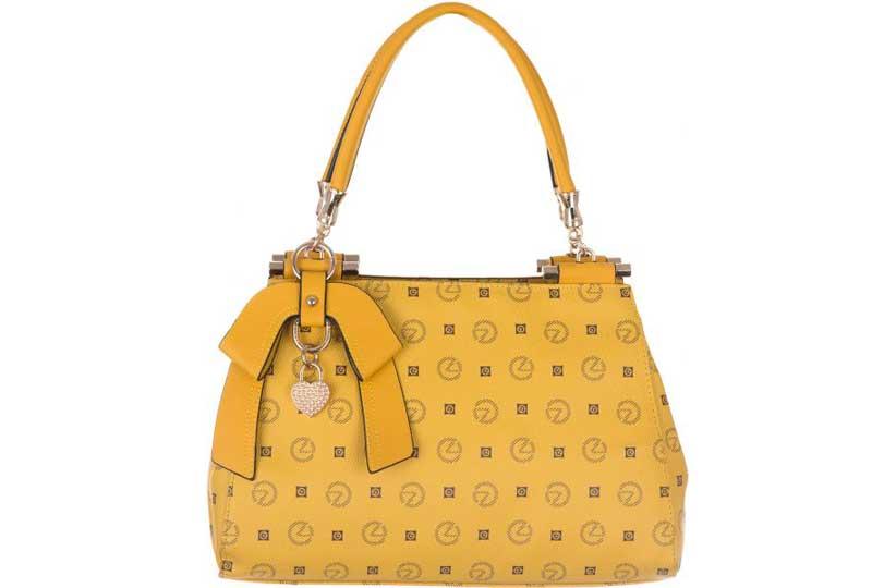 حقيبة يد كبيرة صفراء