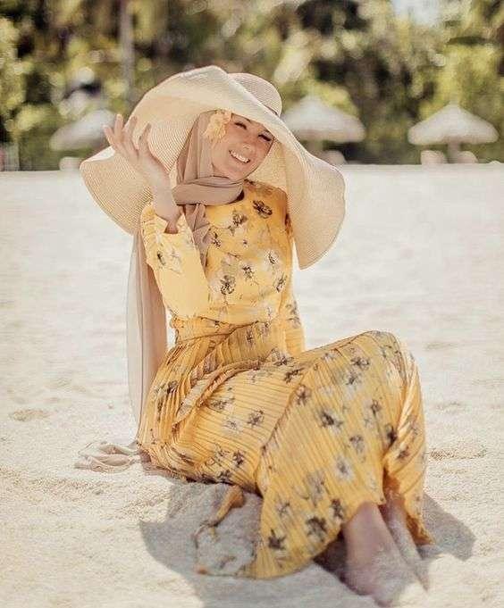 ملابس البحر فستان صيفي للمحجبات