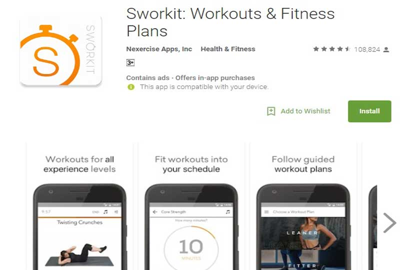Sworkit: Workouts & Fitness Plans