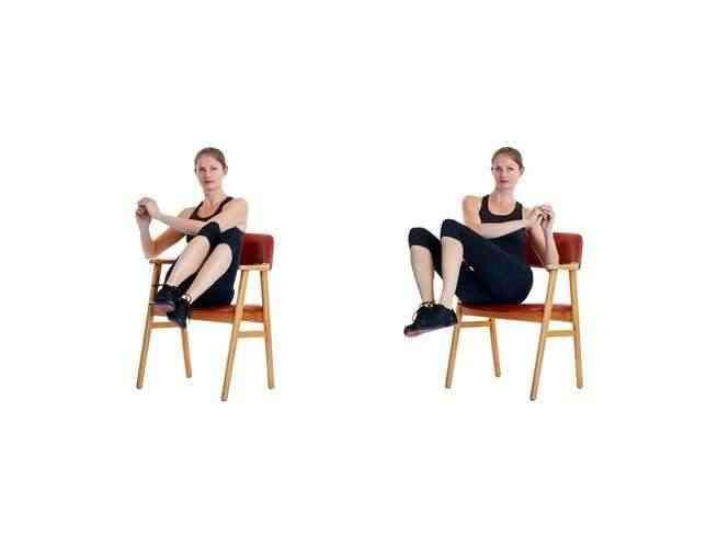 تمارين الكرسي للوسط