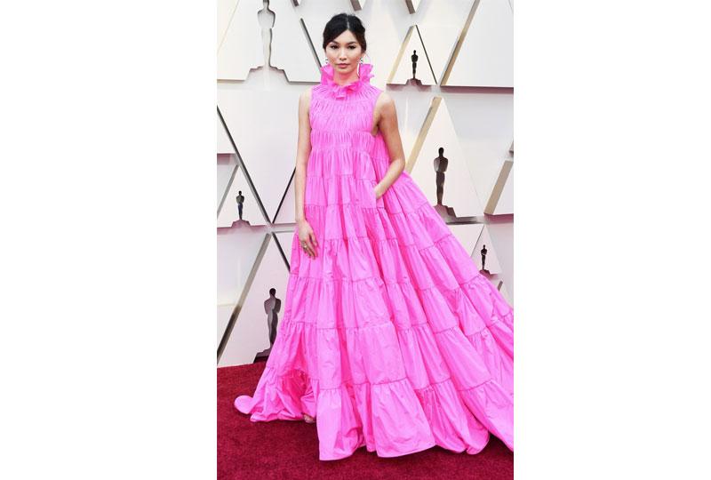 فساتين الأوسكار 2019 فستان جيما تشان