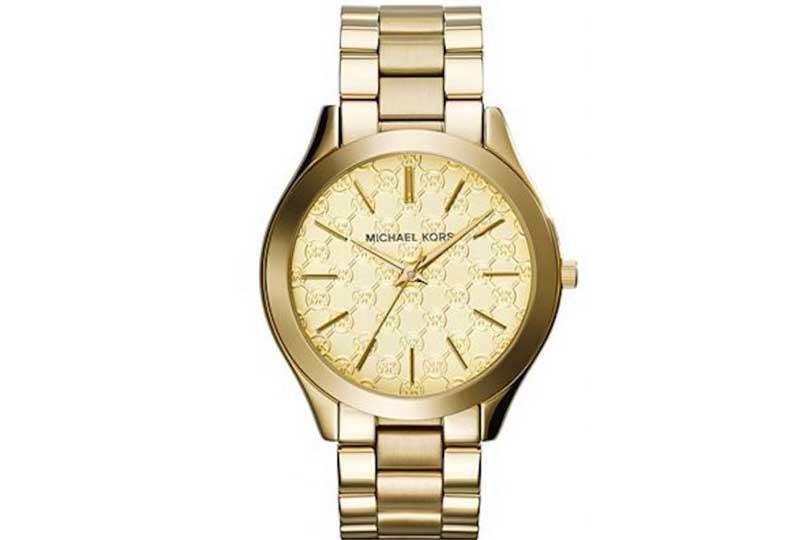 ساعات مايكل كورس باللون الذهبي